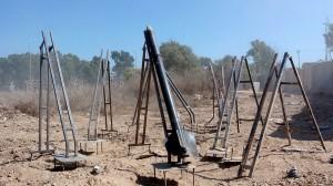 Avfyrningsramper i Gaza för Qassamraketer. Foto: IDF [CC-BY-SA-2.0]