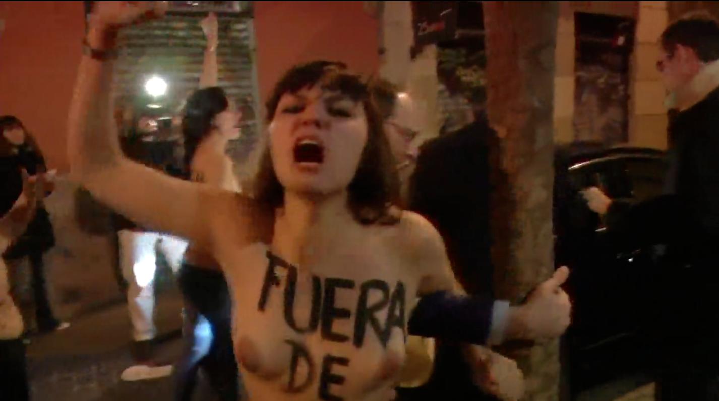 Femenprotest i Spanien