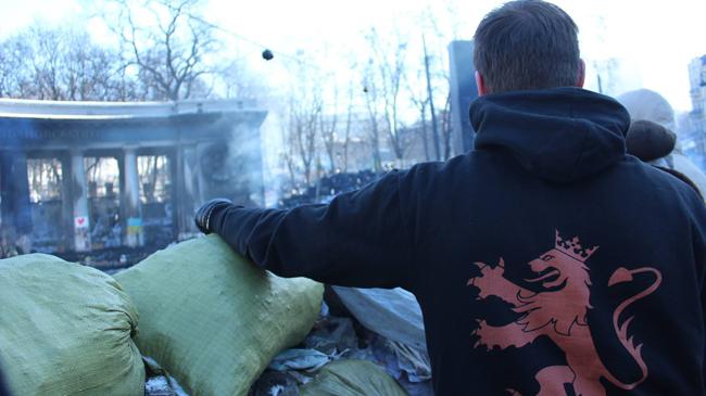 Nordisk Ungdom på plats i Ukraina. Foto: Nordisk Ungdom