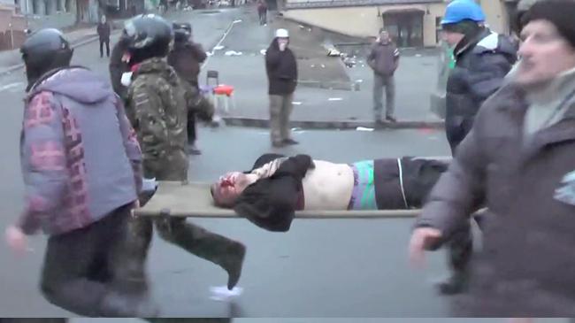 Foto: Faksimil ur Nyheter Idags videoreportage om Ukraina