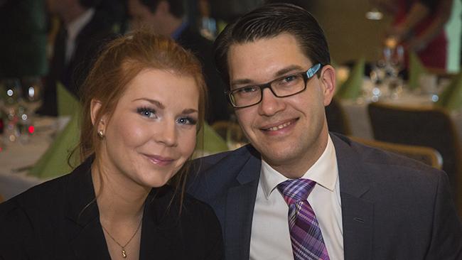 Louise Erixon & Jimmie Åkesson Foto: Nyheter Idag
