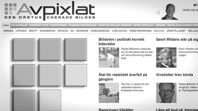 Faksimil från sajten Avpixlat