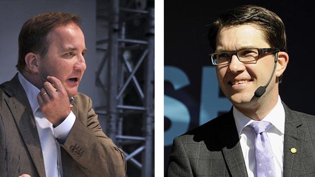 Stefan Löfven och Jimmie Åkesson. Bilden är ett montage - Foto: Björn Bergman