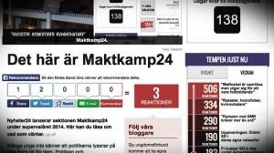 SDU finns inte med på Maktkamp24 - Foto: Faksimil www.nyheter24.se