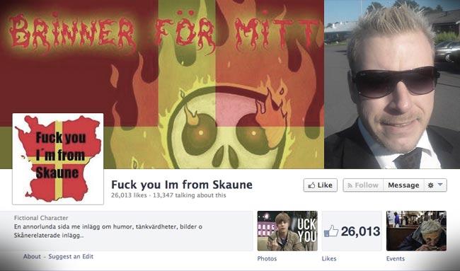 Fredrik Marthell och hans Facebooksida - Bilden är ett montage. Foto: Privat
