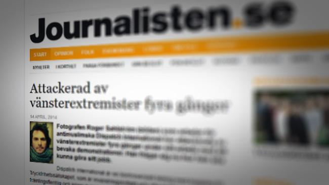 """Det är viktigt att vara """"rätt"""" sorts journalist.  - Faksimil från journalisten.se"""