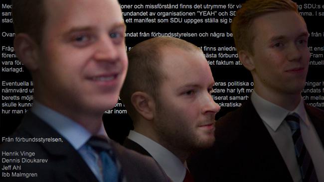 Till vänster: Gustav Kasselstrand, i mitten: Erik Myrin, till höger: William Hahne. Foto: Montage / Nyheter Idag