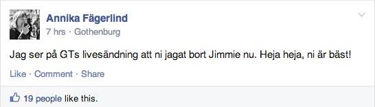 Här uppmuntrar Annika till mötesstörningar mot Sverigedemokraterna i Ung Vänsters facebookgrupp.