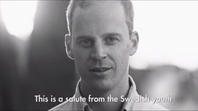 Gustav Kasselstrand i den omdiskuterade SDU-videon. Foto: Faksimil Youtube