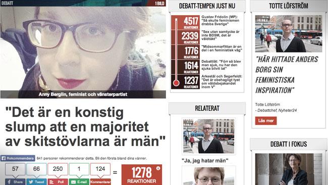 Skärmdump från Nyheter24.