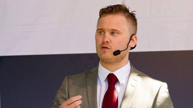 Henrik Vinge är ledamot i SDUs förbundsstyrelse. Foto: Privat