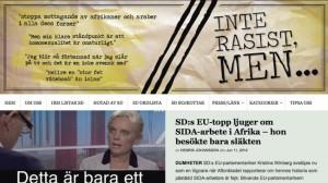 Sajten interasistmen är känd för att granska bland annat SD. Foto: Faksimil www.interasistmen.se