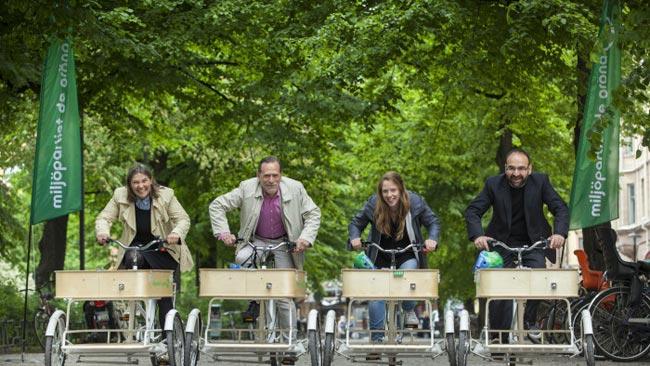 Såhär fina cyklar använder Miljöpartiet. Foto: Pressmeddelande / MyNewsdesk