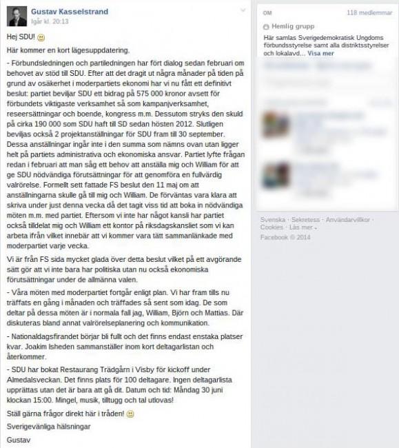 Faksimil: Facebook