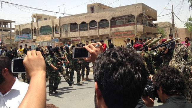 Det var många åskadare på plats i Bagdad. Foto: Buzzfeed