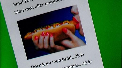 Den här korvreklamen fick Gudrun Schyman att gå i taket. Foto: soldatmamma.blogspot.se