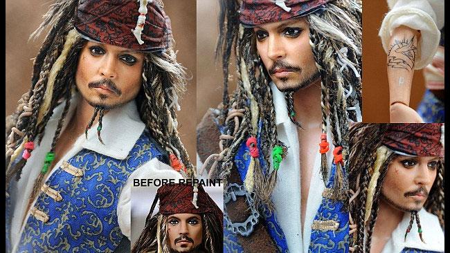 Kapten Jack Sparrow, denna docka skulle nog Johnny Depp vilja ha.