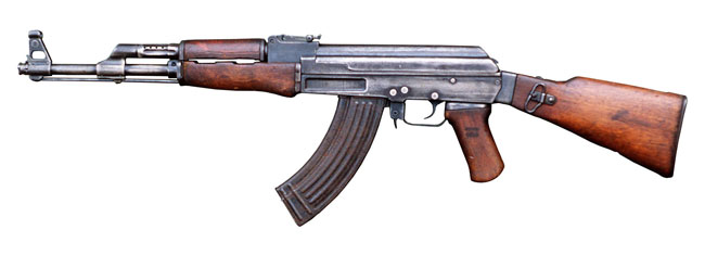 Så här ser en AK47 ut. Foto: Wikipedia