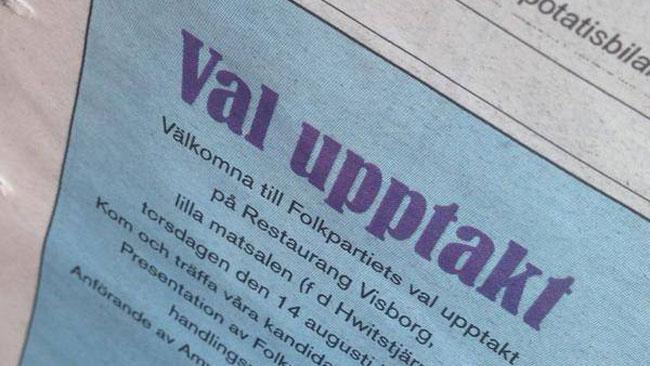 Den särskrivna annonsen. Foto: Privat / Twitter