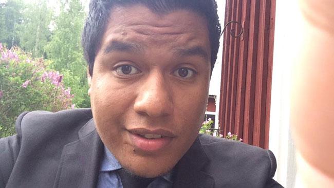Isak Löfstedt är engagerad i Sverigedemokraterna. Foto: Privat