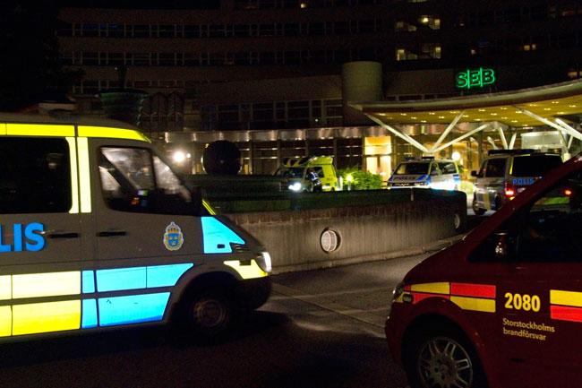 Polisen på plats i Stockholmsförort - arkivbild. Foto: Chang Frick / Nyheter Idag