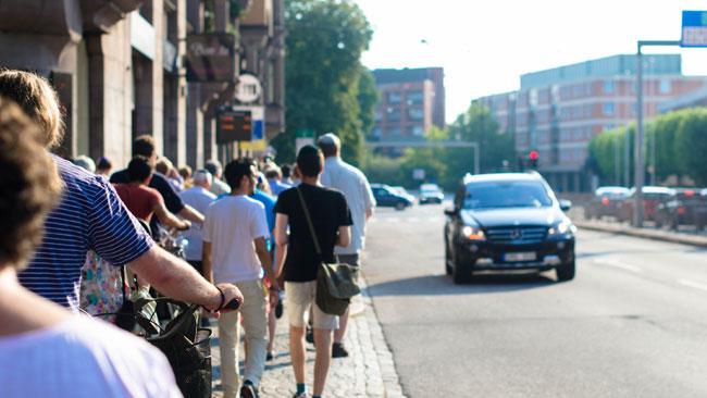 Kippavandringen är ett sätt att visa stöd för Malmös judar. Foto: Elinor Magnusson
