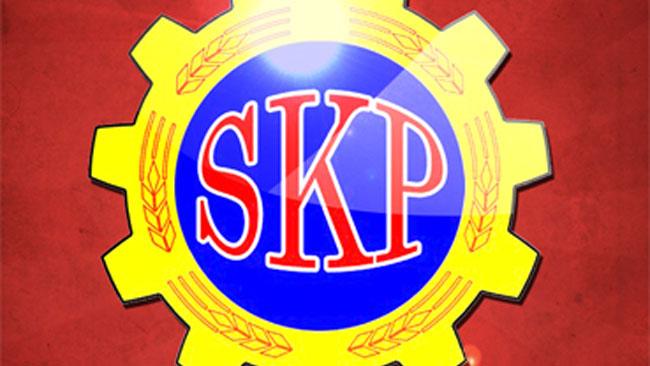Bild ur en valaffish från Sveriges Kommunistiska Parti. Foto: www.skp.se