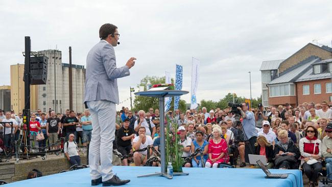 Det var molningt i Sölvesborg. Foto: Sven Pernils / Nyheter Idag