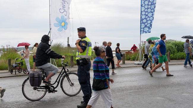 Polisen hade en lugn dag i Sölvesborg. Inga ordningsttörningar är rapporterade. Foto: Sven Pernils / Nyheter Idag