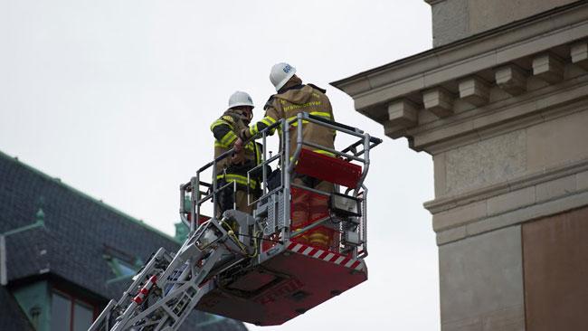 Räddningstjänsten fick rycka in. Foto: Sven Pernils / Nyheter Idag