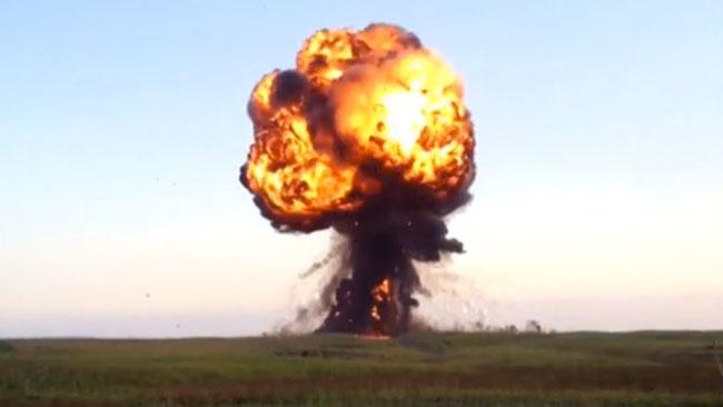 Faksimil ur en video RT.com publicerar från den ryska krigsövningen.