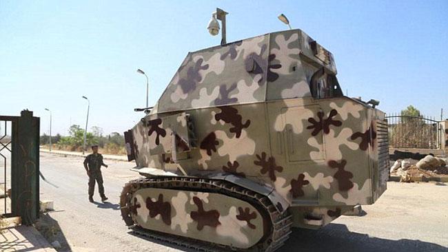 Nej, den här vagnen är inte ur en film - den används på riktigt mot ISIS.