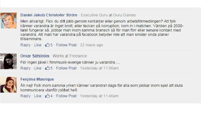 Journalister och spelmakare reagerar på gårdagens artikel. Foto: Faksimil nyheteridag.se