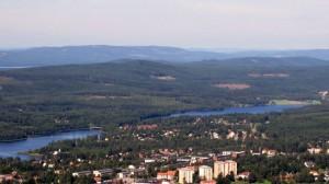 Hagfors samhälle från ovan. Foto: Ulf Lagerkvist / Wikipedia