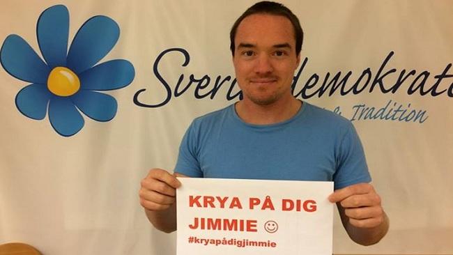 Kent Ekeroth till Jimmie Åkesson. Foto: Kent Ekeroth