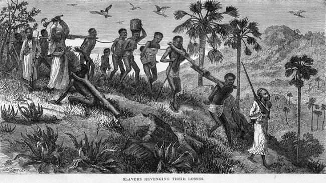 Bild över arabiskt slaveri.