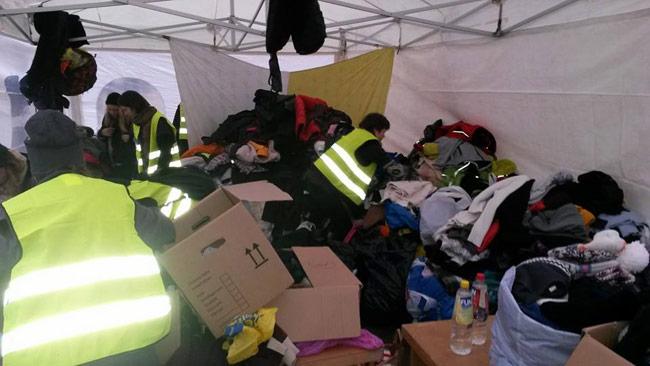 Det var många som ville hjälpa hemlösa i Göteborg. Foto: Privat