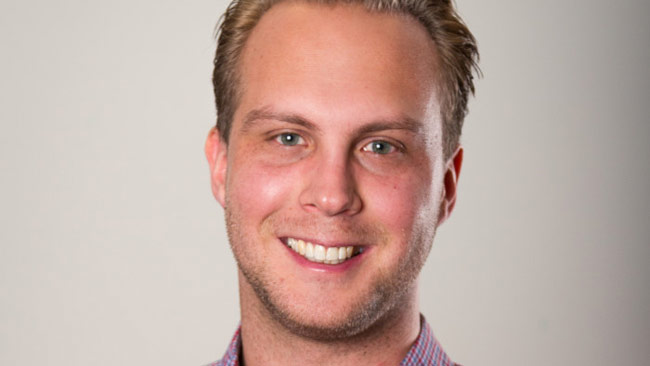 Rasmus Thörnblom, ny ordförande i MUF. Foto: Pressbild