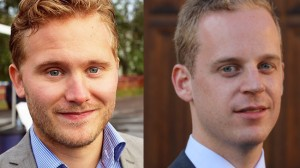 Henrik Vinge till vänster och Gustav Kasselstrand till höger. Bilden är ett montage. Foto: Privat / Pressbild