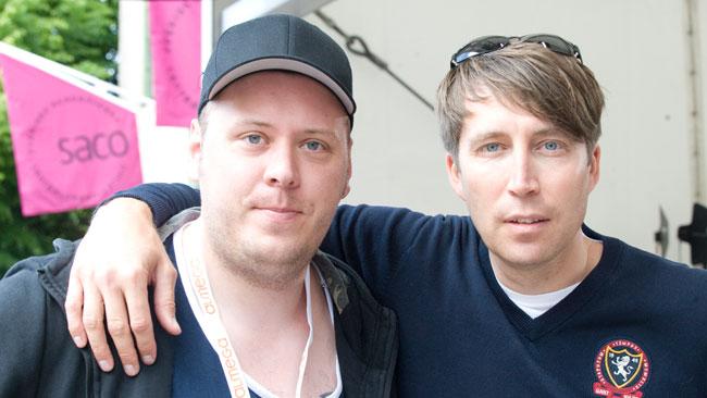 Omaka par. Till vänster Henrik Johansson, till höger Richard Jomshof. Foto: Sven Pernils