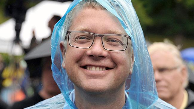 Moderaternas partisekreterare Kent Persson är en av dem som berömmer uppgörelsen. Foto: Björn Bergman / photo2be.com