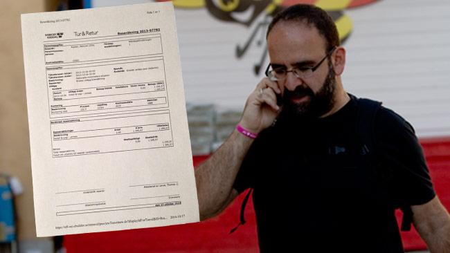 Mehmet Kaplan kunde inte redovisa kvitto för en hotellnatt i Istanbul. Bilden är ett montage med reseräkning från riksdagsförvaltningen. Foto: Chang Frick / Nyheter Idag