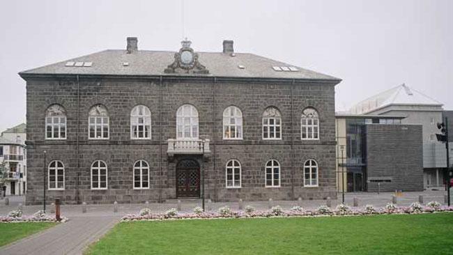 Det isländska parlamentet, Alltinget. Foto: Wikipedia