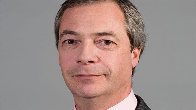 UKIP-ledaren Nigel Farage. Foto: Wikipedia