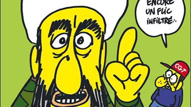 En bild av förstasidan från  ett nummer av satirtidningen Charlie Hebdo. Foto: Faksimil Charlie Hebdo