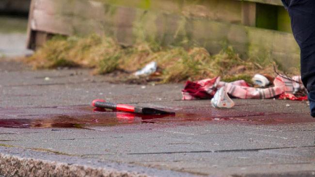 Det var mycket blod säger ett vittne. Foto: Peo Möller / TOPNEWS.se