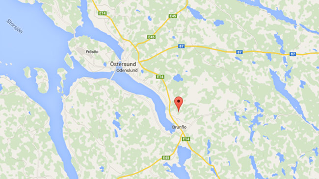 Enligt google maps ligger samhället grytan strax sydöst om Östersund. Foto: Faksimil  / Google maps