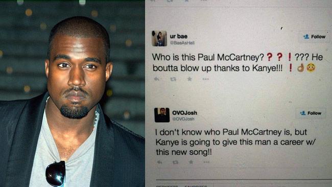 Kanye West till vänster och skärmdump till höger. Foto: Wikipedia / Twitter - Bilden är ett montage