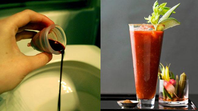 Varför inte göra en Bloody Mary med spännande innehåll? Bilden är ett montage. Foto: Wikipedia