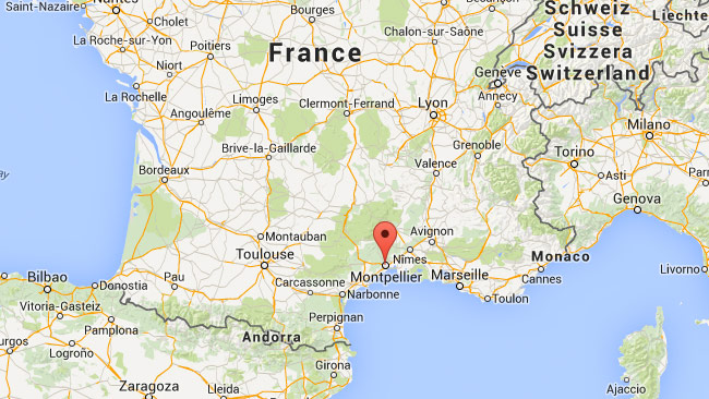 Staden Montpellier i Frankrike. Foto: Faksimil Google Maps